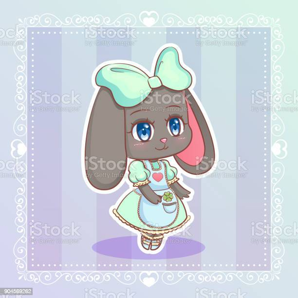 Sweet rabbit little cute kawaii anime cartoon bunny girl in mint vector id904569262?b=1&k=6&m=904569262&s=612x612&h=rvmijywezmhqf870n4 mln0iosatvwjddmj dkcmxwo=