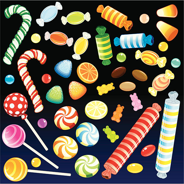 Sweet Rain  candy clipart stock illustrations
