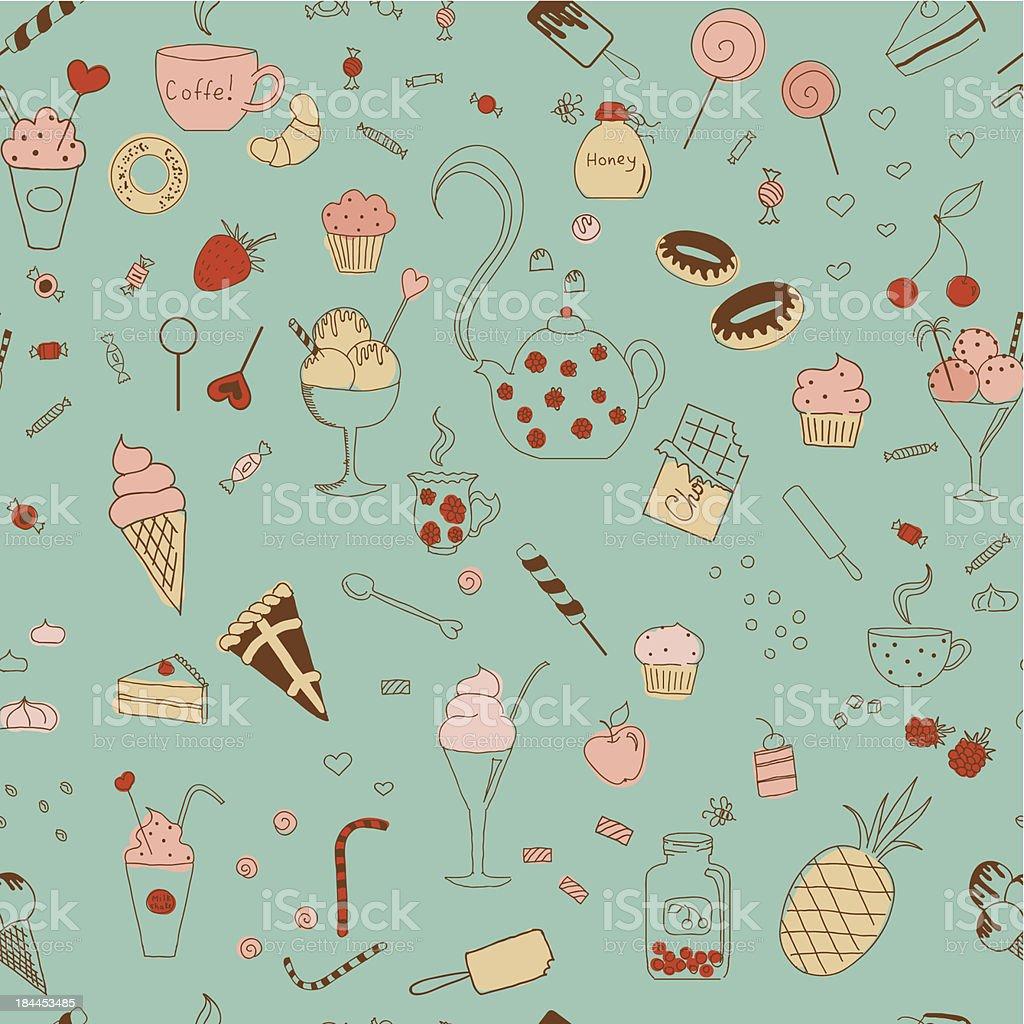 Sweet seamless pattern royalty-free stock vector art