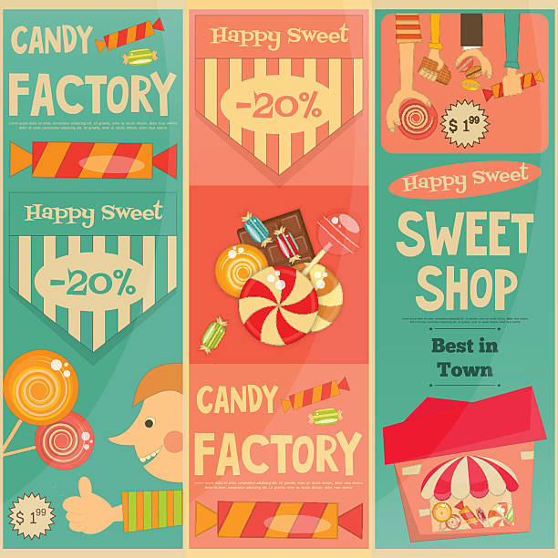 Kid In Candy Store Illustrations Royalty Free Vector