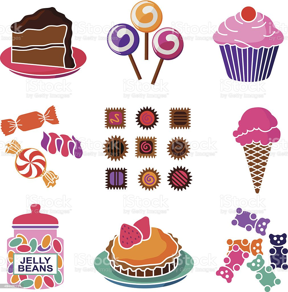 sweet shop vector art illustration