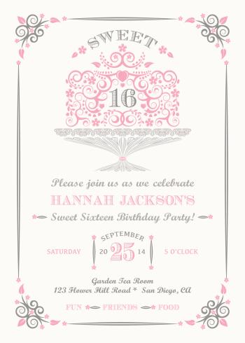 Sweet Sixteen Invitation