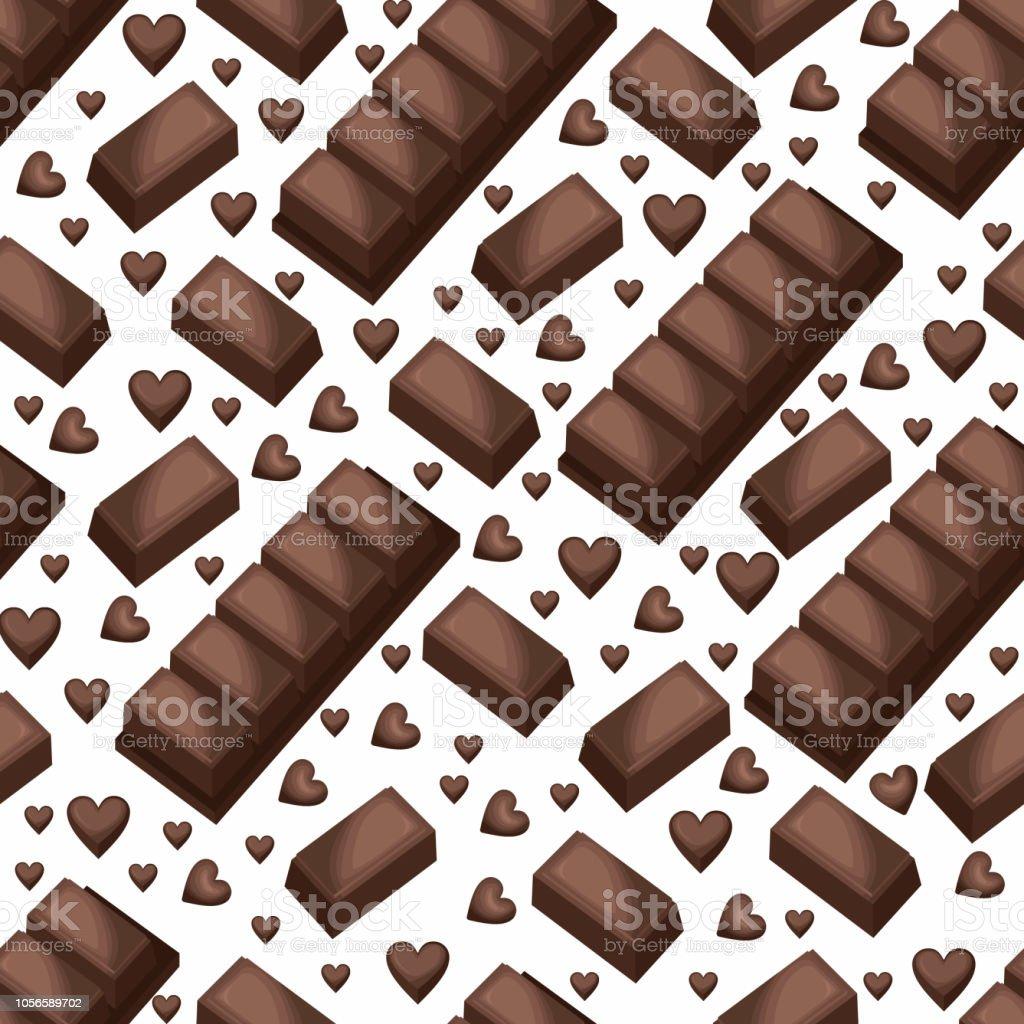 甘いスナック シームレス パターン チョコレート バー ブロック壁紙