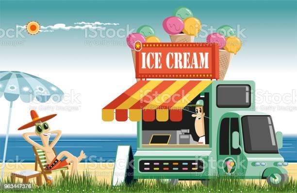Tatlı Yaz Saati Ve Dondurma Stok Vektör Sanatı & ABD'nin Daha Fazla Görseli