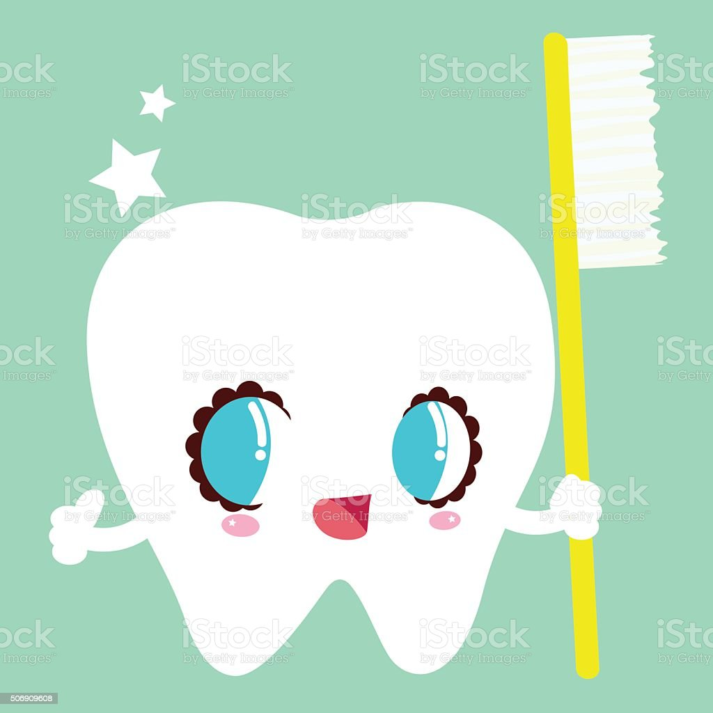 Sweet Tooth With Toothbrush Stock Vector Art & More Images of ...