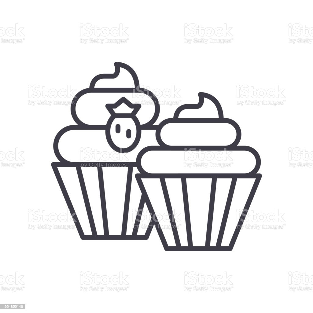 Sweet treats black icon concept. Sweet treats flat  vector symbol, sign, illustration. royalty-free sweet treats black icon concept sweet treats flat vector symbol sign illustration stock vector art & more images of backgrounds
