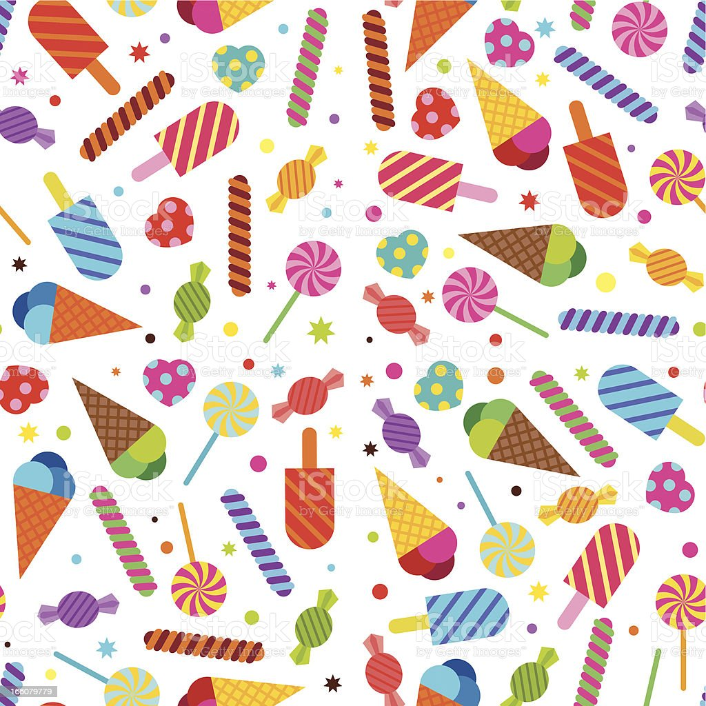 Sweet Treats Wallpaper (Seamless) vector art illustration