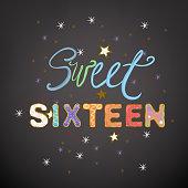 Sweet vector Sixteen
