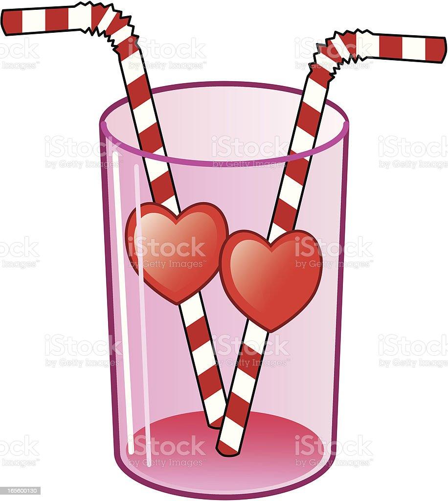 Sweetheart drink straws royalty-free stock vector art