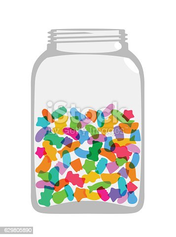 Sweets And Candy Jar Stock Vector Art Amp More Images Of