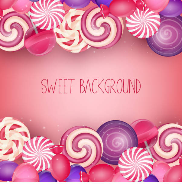 Sweets background vector illustration of Sweets background gum drop stock illustrations