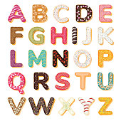 Sweets bakery Donut font design, Vector Art, illustation 10