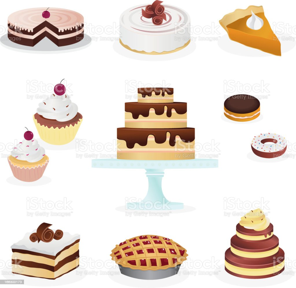 Sweets & Desserts Icon Set royalty-free sweets desserts icon set stock vector art & more images of baked