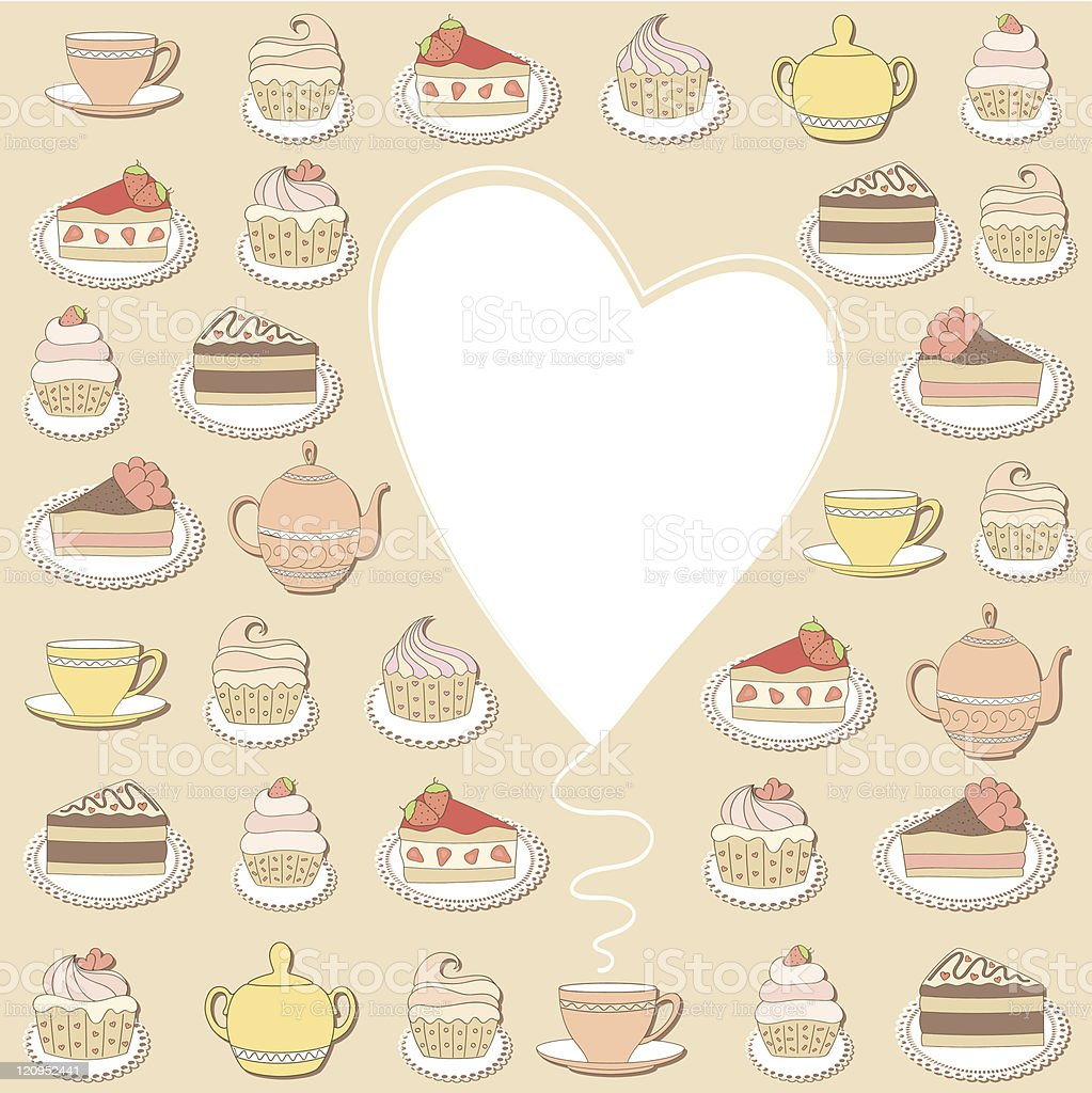 Sweets frame. Vector illustration. royalty-free stock vector art