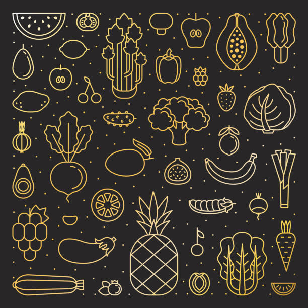 süßigkeiten gold quadratische abbildung. saubere & einfache rahmenplanung. - feigensalat stock-grafiken, -clipart, -cartoons und -symbole