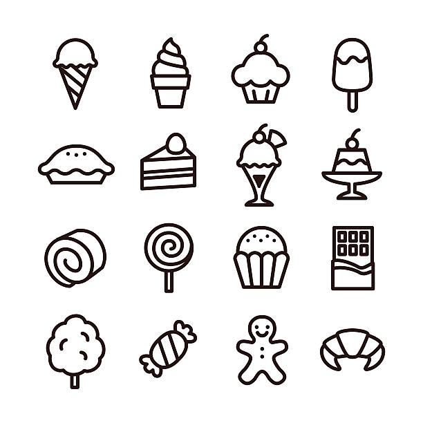 süßigkeiten-symbol - tortenriegel stock-grafiken, -clipart, -cartoons und -symbole