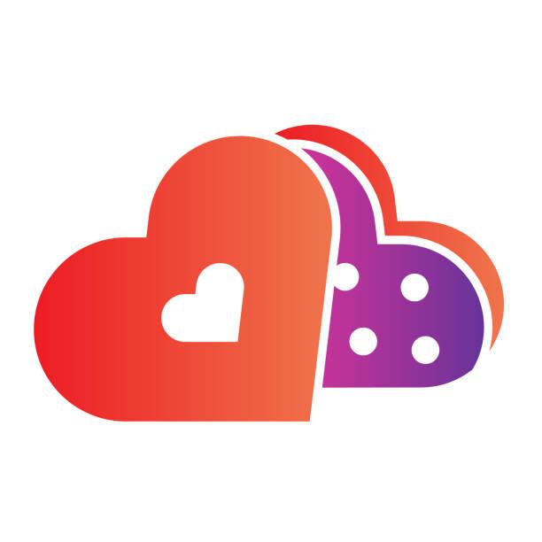 stockillustraties, clipart, cartoons en iconen met snoepjes in een hartpak vlak pictogram. romantische illustratie van de chocoladegiftdoos die op wit wordt geïsoleerd. dating valentine day snoep gradiënt stijl ontwerp, ontworpen voor web en app. eps 10. - flirten