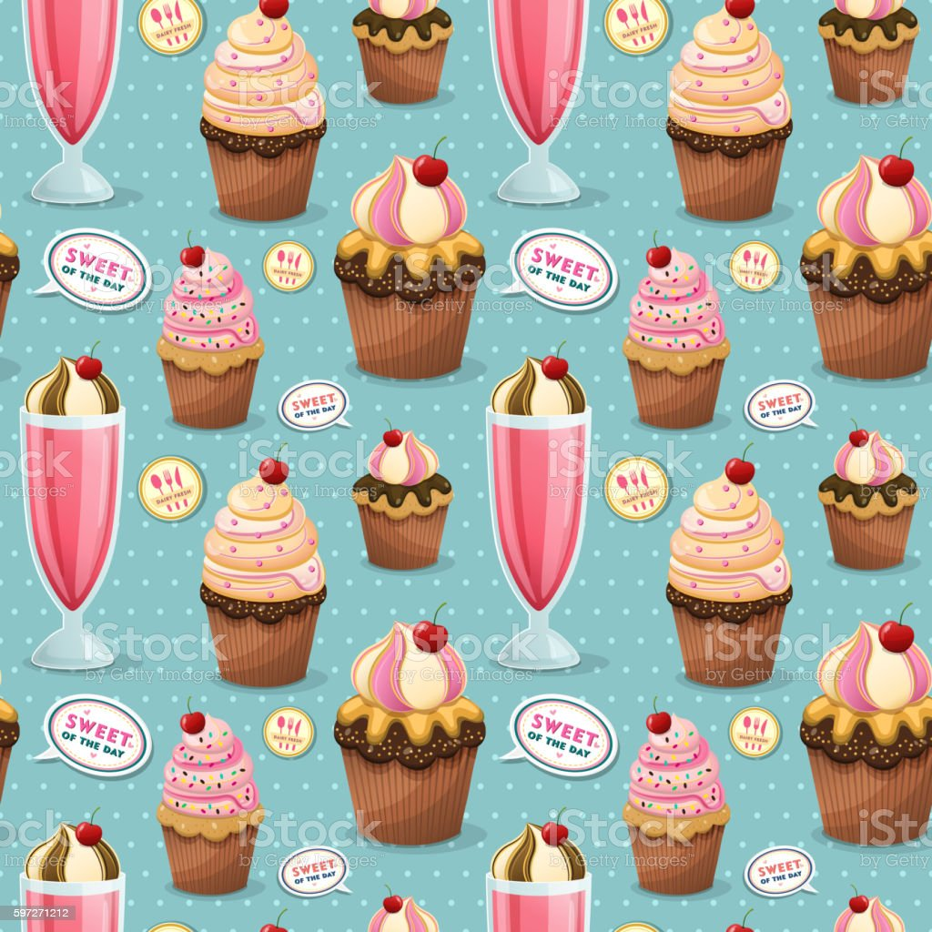 Sweets seamless pattern royalty-free sweets seamless pattern stock vector art & more images of abstract