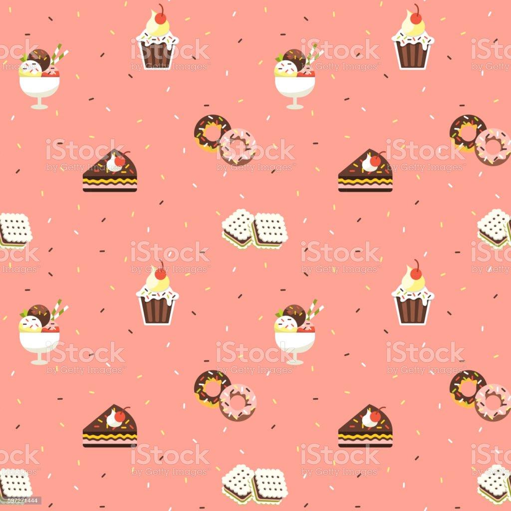 Süßigkeiten Nahtlose Muster Lizenzfreies süßigkeiten nahtlose muster stock vektor art und mehr bilder von abstrakt