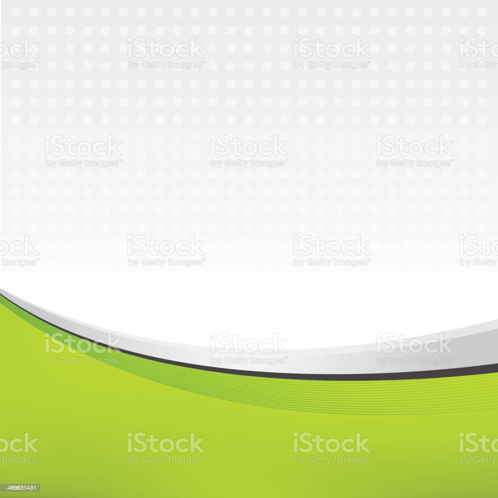 A swept abstract image leaflet of green and white vector art illustration