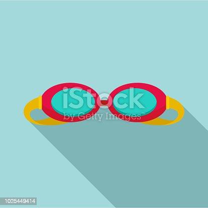 Swim glasses icon. Flat illustration of swim glasses vector icon for web design