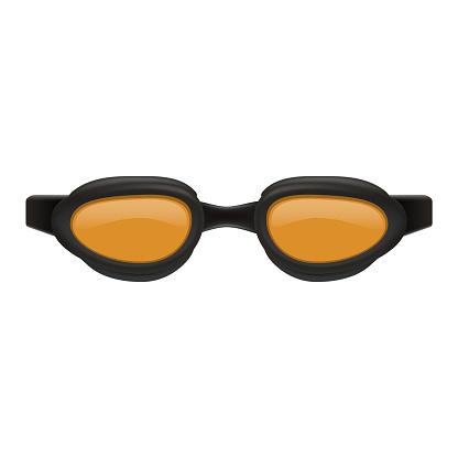 Swim glasses mockup, realistic style