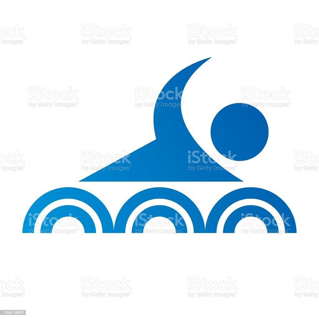 swim icon vector art illustration