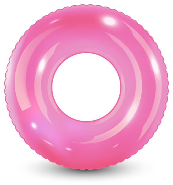 Swim ring. Inflatable rubber toy. Realistic summertime illustration. Summer vacation or trip safety item. Top view swiming circle for ocean, sea, pool. Swim ring. Inflatable rubber toy. Realistic summertime illustration. Summer vacation or trip safety item. Top view swiming circle for ocean, sea, pool. Vector illustration, tube stock illustrations