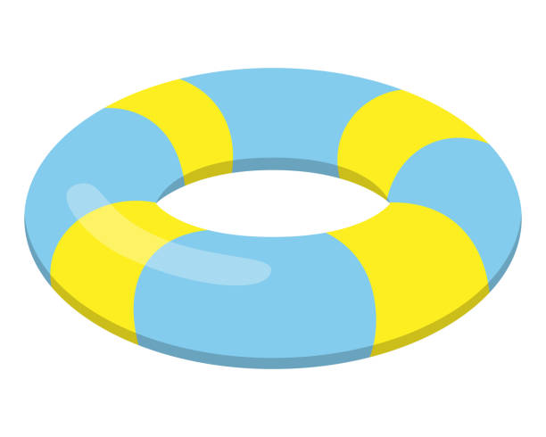 swim ring Swim ring illustration. tube stock illustrations