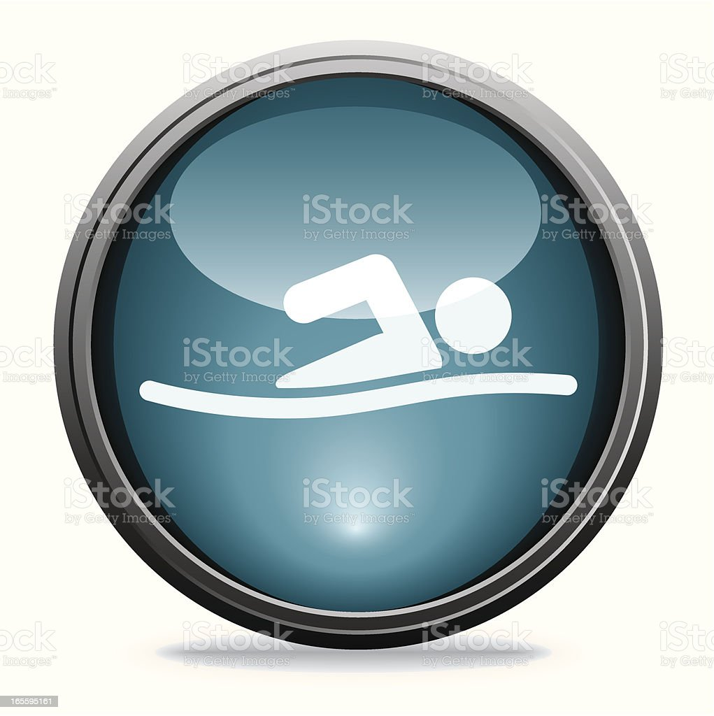 Swimmer | Glass Collection royalty-free stock vector art