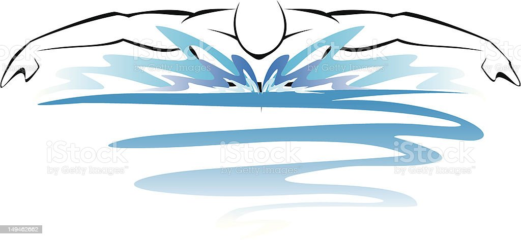 Swimmer royalty-free swimmer stock illustration - download image now