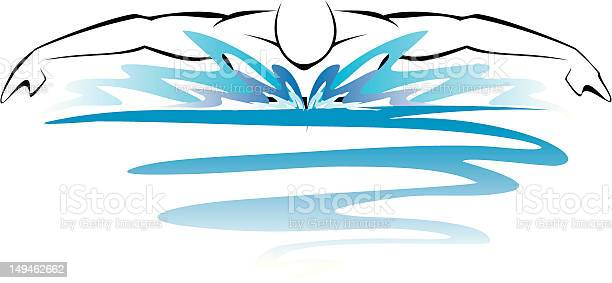 Swimmer Stock Illustration - Download Image Now