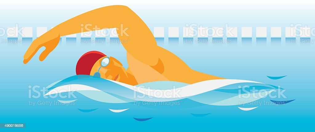 swimmer vector art illustration