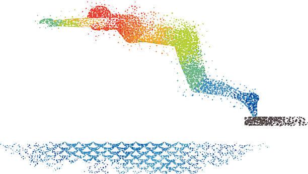 Swimming Art 2 vector art illustration