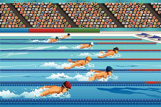 swimming competition - 競技運動 幅插畫檔、美工圖案、卡通及圖標