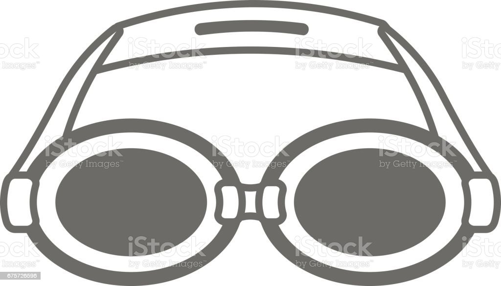 cc92ba44206c Swimming Goggles outline icon. Summer. Vacation royalty-free swimming  goggles outline icon summer