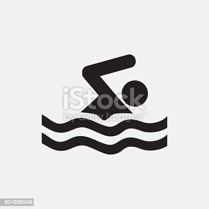 Swimming icon illustration isolated vector sign symbol
