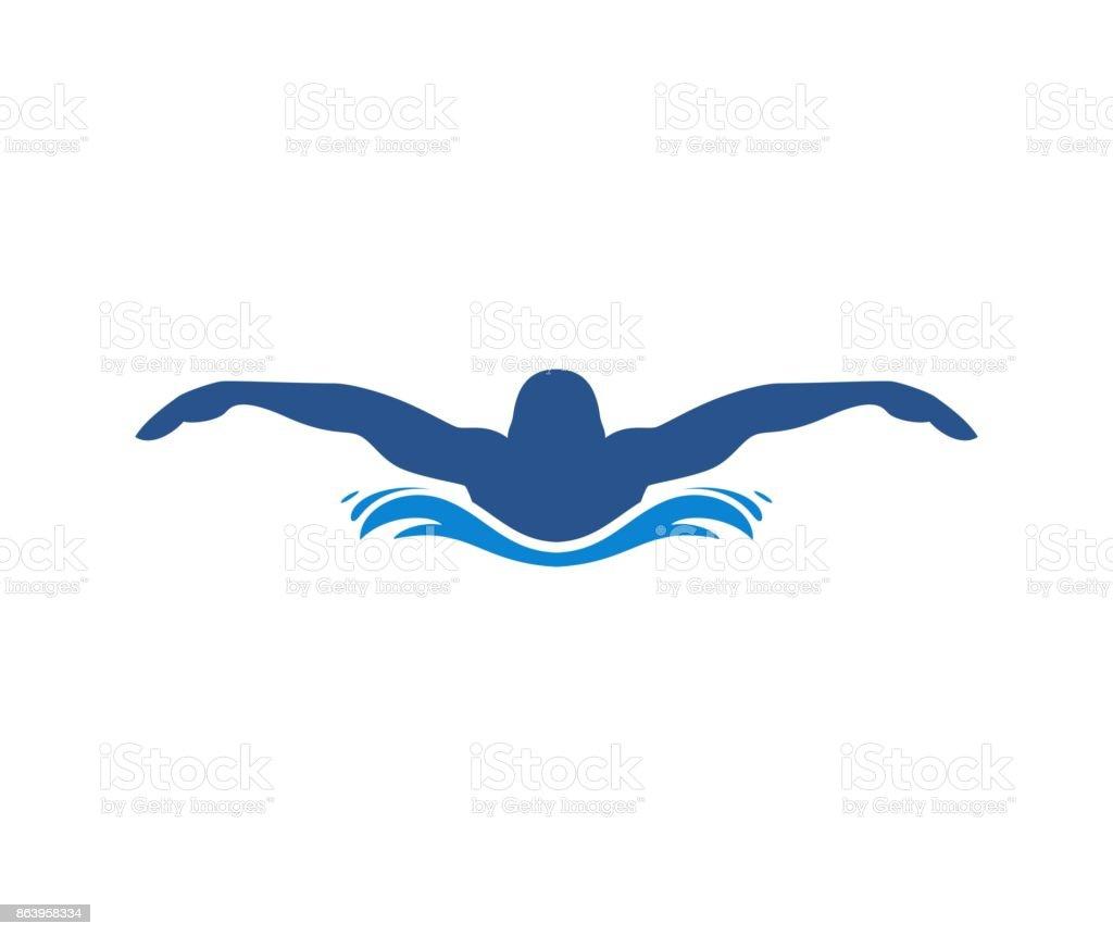 royalty free background of swim logos clip art vector images rh istockphoto com swimming logo clip art swimming logs online