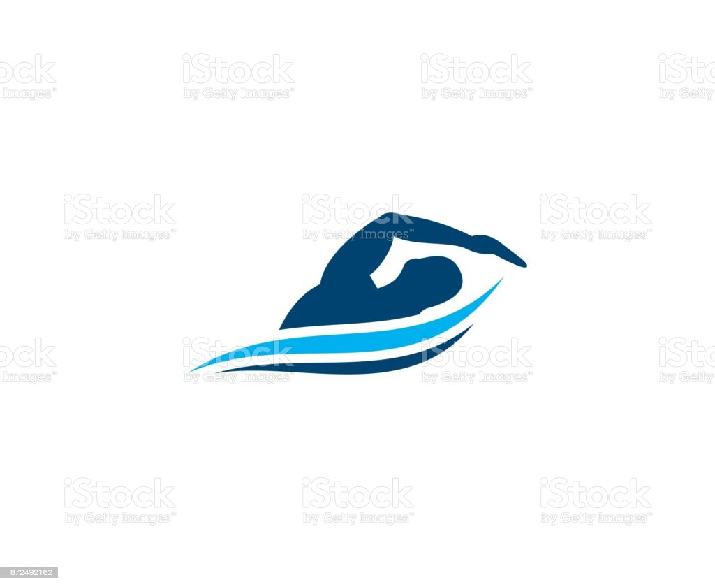 Swimming icon vector art illustration