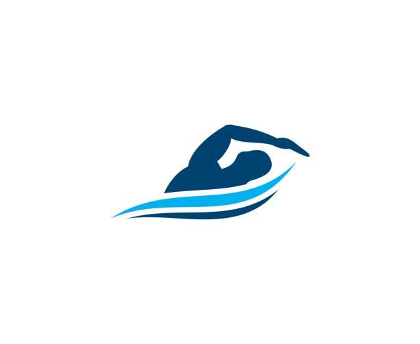 illustrations, cliparts, dessins animés et icônes de icône de la piscine - natation