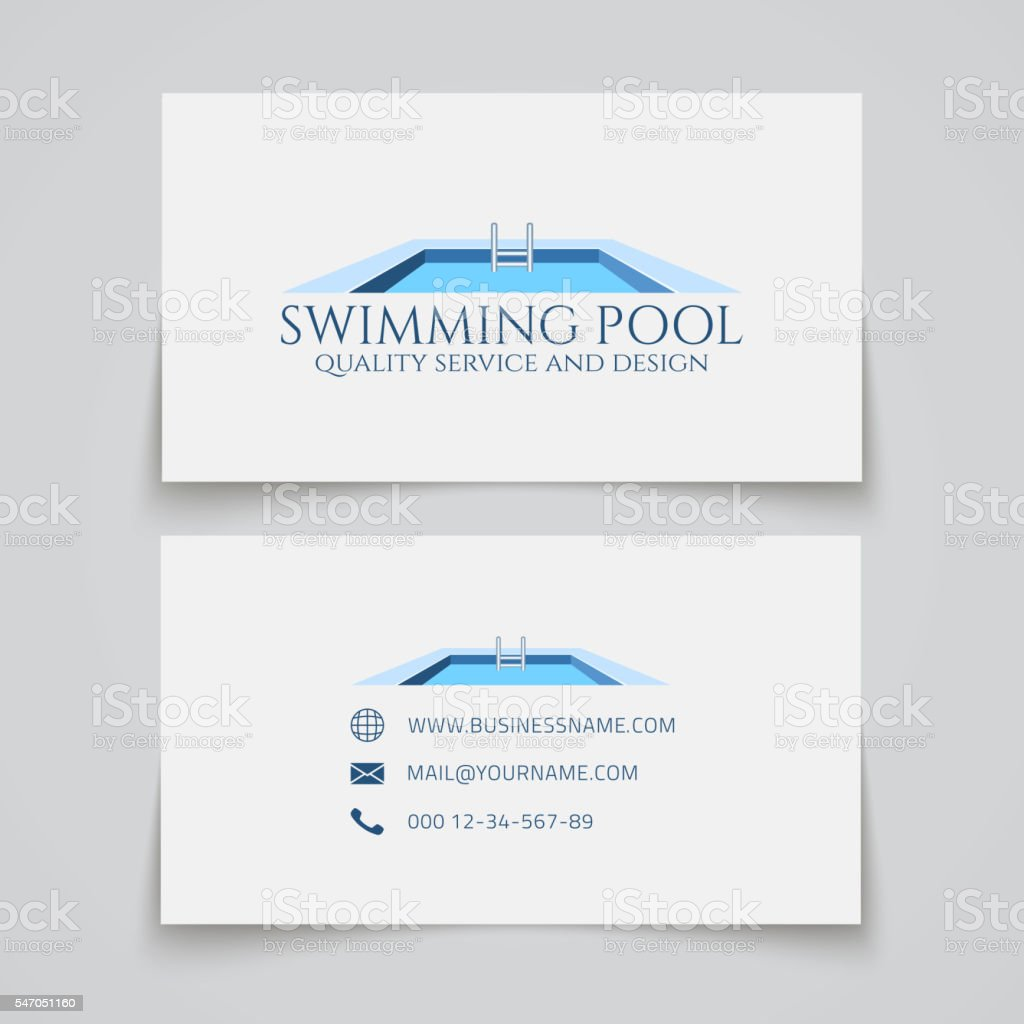 Swimming pool business card stock vector art more images of swimming pool business card royalty free swimming pool business card stock vector art amp colourmoves