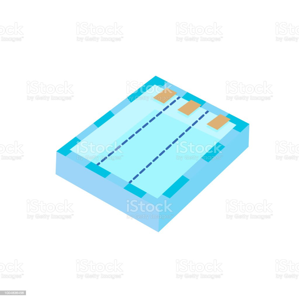 Swimming pool icon on the white background. Vector illustration. vector art illustration