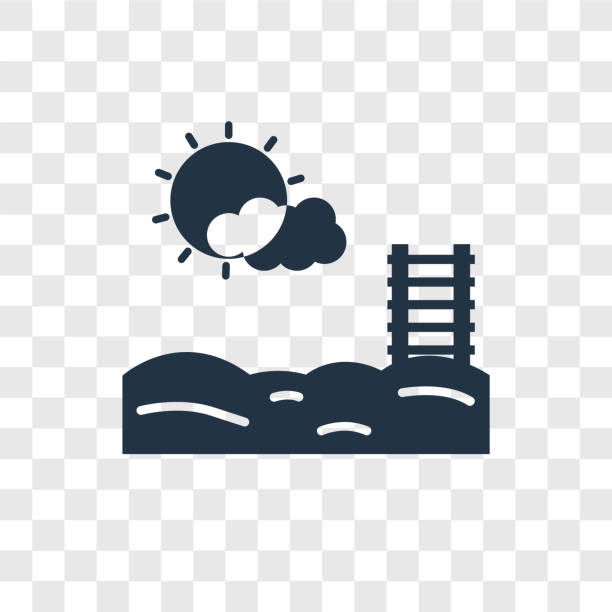 schwimmbad vektor icon isoliert auf transparenten hintergrund, schwimmbad-transparenz-logo-design - pattaya stock-grafiken, -clipart, -cartoons und -symbole