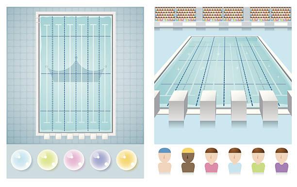 swimming pool vector art illustration