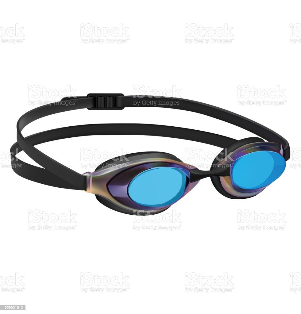Swimming sport goggles. Vector illustration vector art illustration