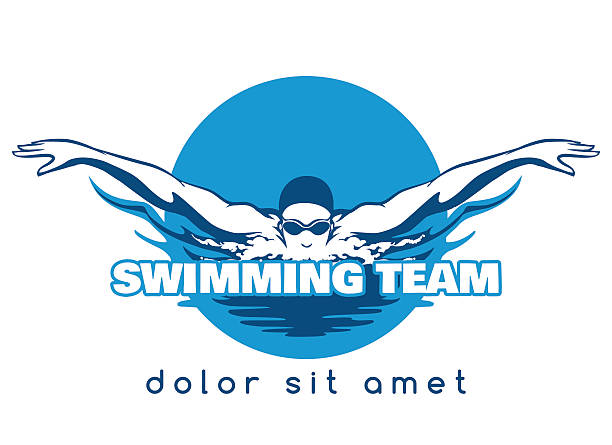 Swimming Team Vector Logo vector art illustration