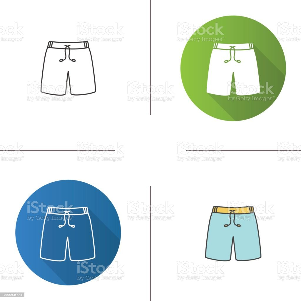 Swimming trunks icon vector art illustration
