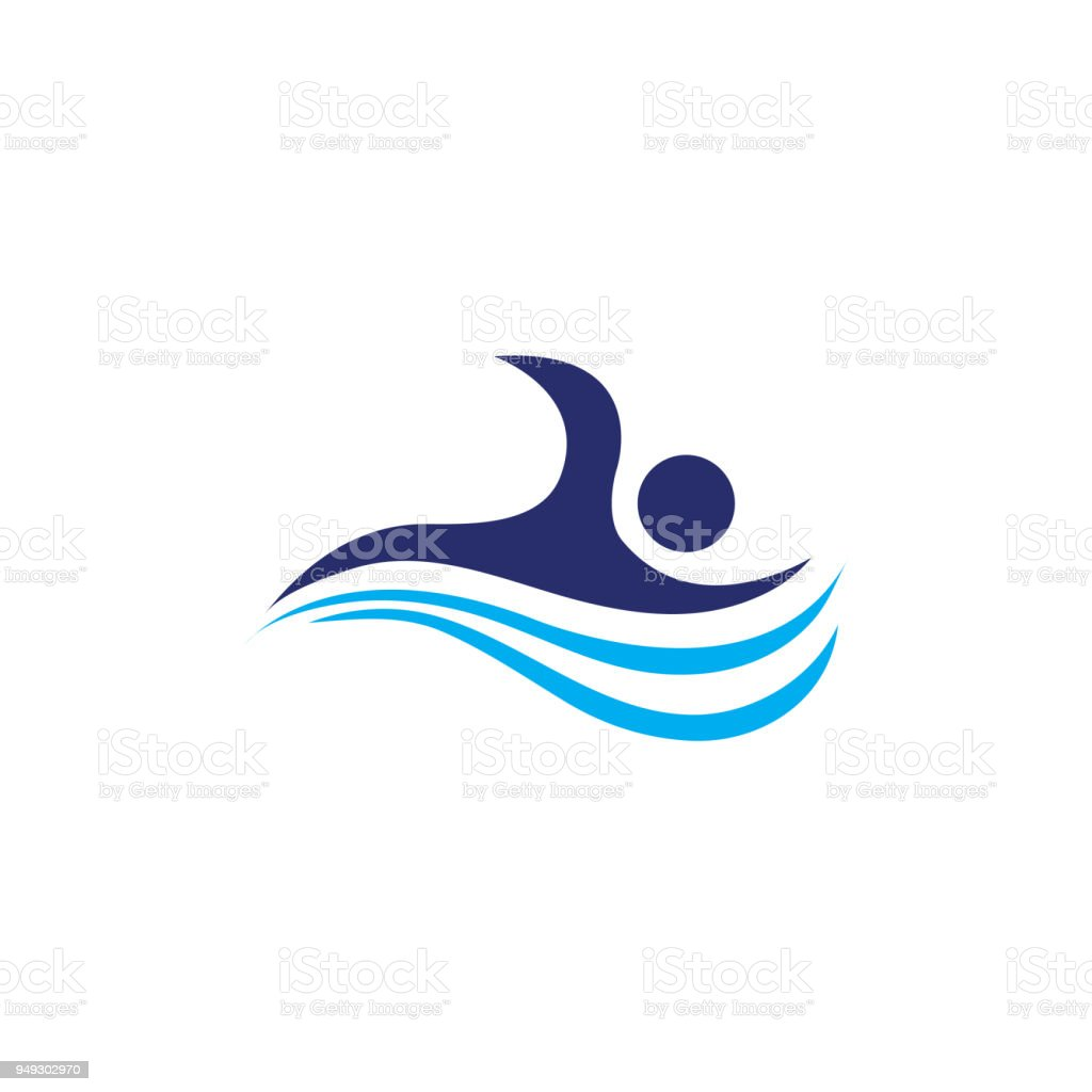 Swimming vector art design vector art illustration