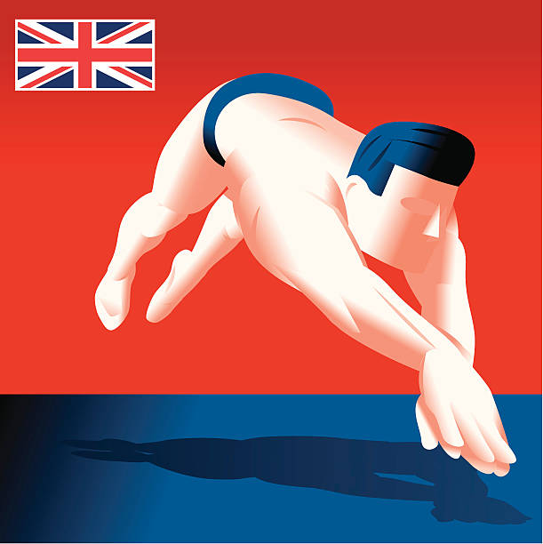 uk swimming - russelltatedotcom stock illustrations