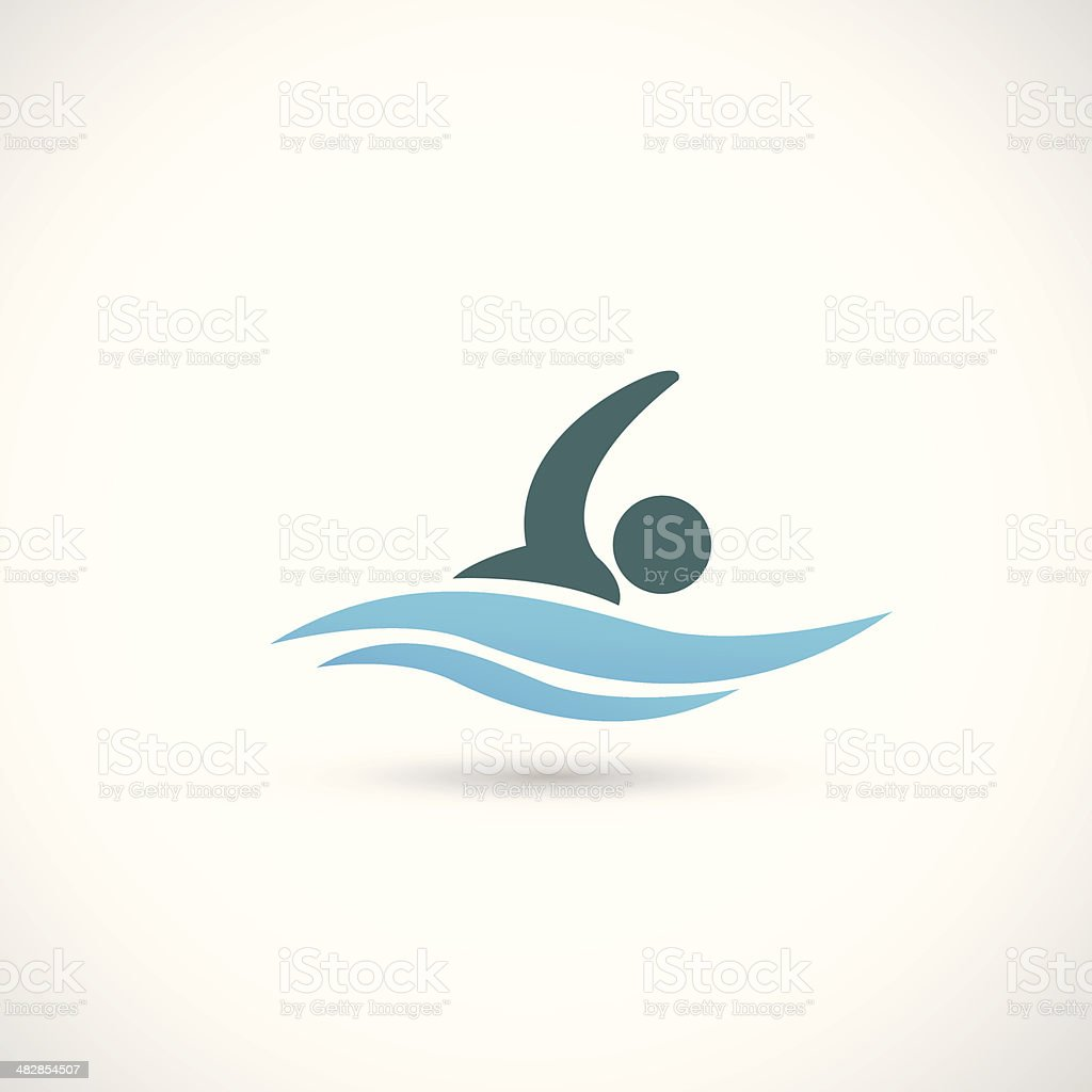 Swimming vector art illustration